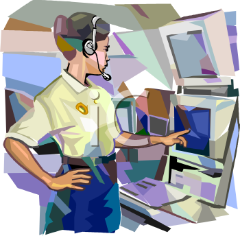 Clip Art of a Dispatcher