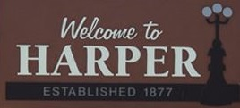 City of Harper Welcome Sign (JPG)